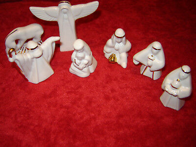 Wade Nativity Complete Set Of 7 Made In England 2001