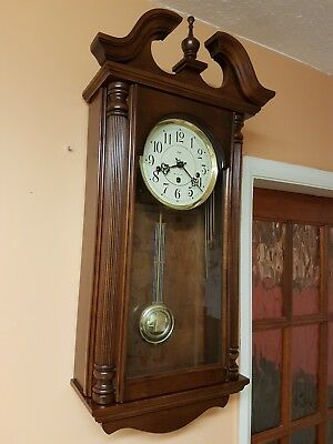 8 Day Westminster Chiming Wall Clock. In Good  Working  Order