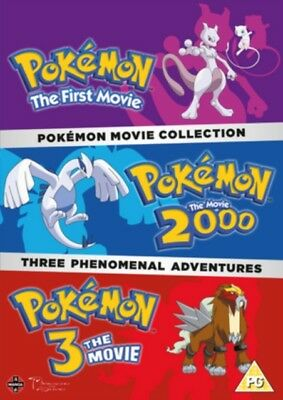 Pokemon Triple Movie Collection: Movies 1-3 (DVD, 1998) *NEW/SEALED* FREE P&P