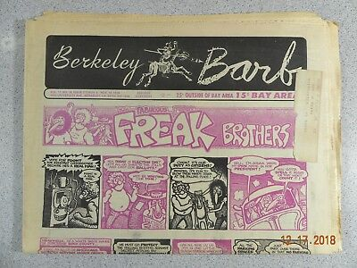Berkeley Barb # 273, 1970 Underground Freak Brothers  Another SF War Rally