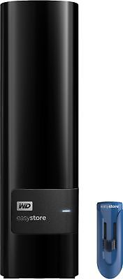WD - Easystore 10TB External USB 3.0 Hard Drive with 32GB Easystore USB Flash...