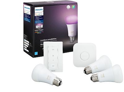 Philips - Hue Color 3pk Starter Kit with Lightswitch - Multicolor