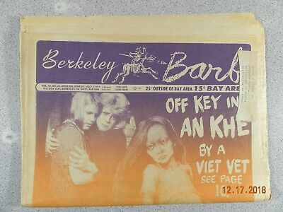 Berkeley Barb # 306,1971 Underground My Lay in My LAI Off Key in An Khe Viet Vet