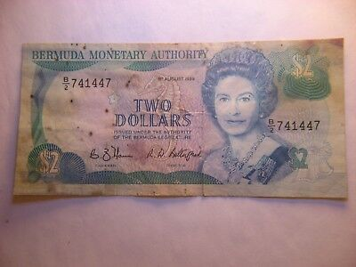 Bermuda Monetary Authority 2 Dollars 1989