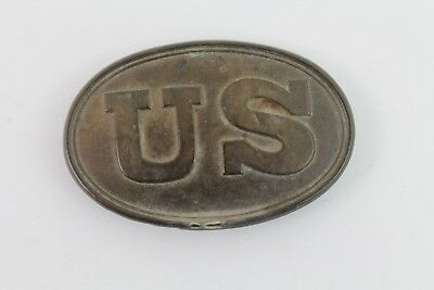Vintage Reproduction Civil War Brass Belt Buckle U.S.