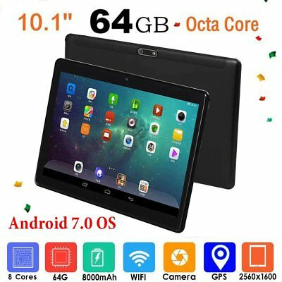 10.1 inch Android 7.0 Tablet PC 4GB+64GB Octa Core WIFI GPS Phone Wifi Phablet T