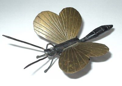 Antique Bronze and Brass Dragonfly