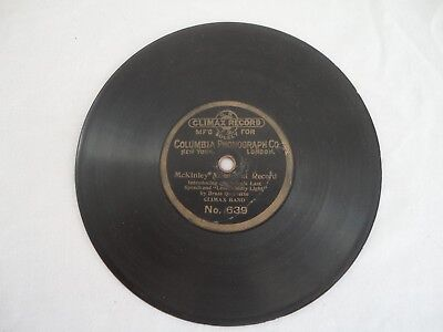 Antique 7 Inch 1 Sided COLUMBIA PHONOGRAPH CO. 78 RPM Phonograph CLIMAX Record