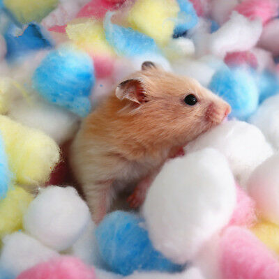 100Pcs/Bag Colorful Keep Warm Cotton Ball Cute Cage House Filler for Hamster Rat