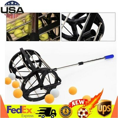 Tennis Ball Picker Hopper Retriever Mower Collector Pick Up 55 BALLS USA STOCK