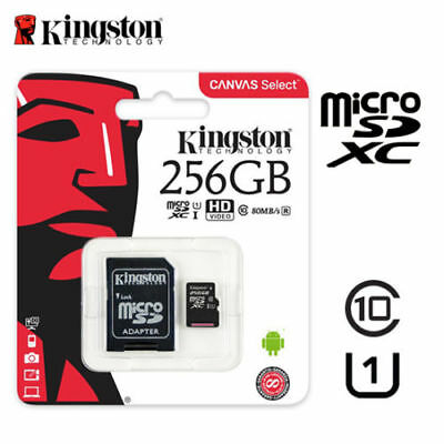 Kingston 16/32/64/128GB TF Class 10 Micro SD SDHCC10 With ADAPTER Memroy Card