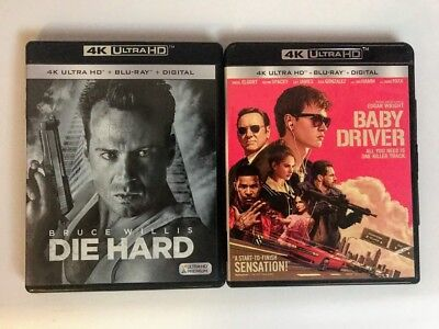 Die Hard & Baby Driver 4K Ultra Hd + Blu-ray BRUCE WILLIS UHD