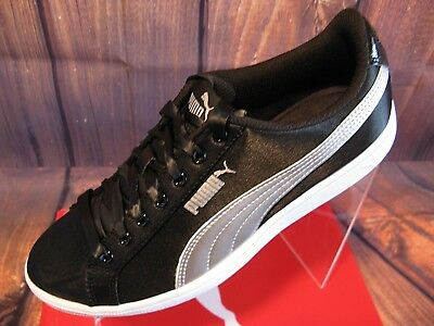 88711f1a4e3 Puma Women s Sneakers Tennis Shoes Ladies Black Vikky EP Fabric Casual Lace  8M