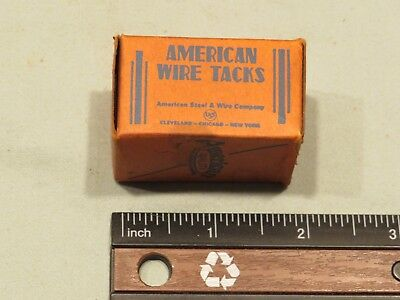 Vintage American Wire Carpet Tacks, Original Packaging
