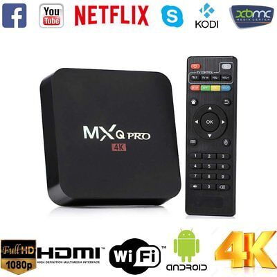 MXQ PRO Android 7.1 Quad Core 1+8G Smart TV Box WIFI Set-top Box Media Player EU