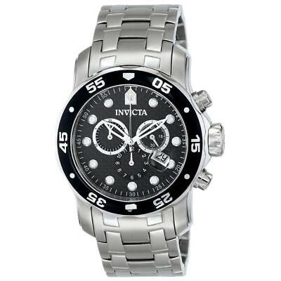 Invicta 17082 Men's Pro Diver Scuba Black Carbon Fiber Dial Steel Bracelet Watch