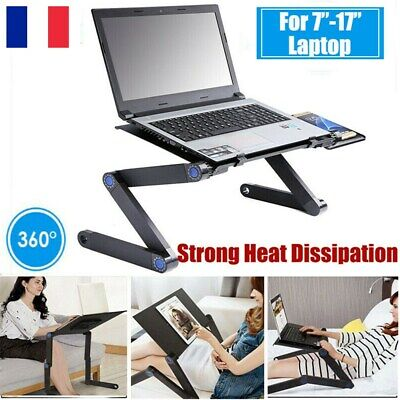 Table de Lit Ordinateur Pliable 360° Bureau Tablette Plateau PC Portable Bureau
