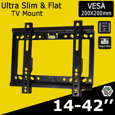 """For LCD LED Plasma 3D Television 10-32"""" Compact TV Wall Bracket Mount Vesa 200"""