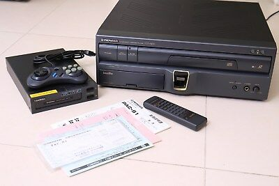 Pioneer LaserActive CLD A-100 LD,CD Laser Disc Player Console with Sega Pac S-1