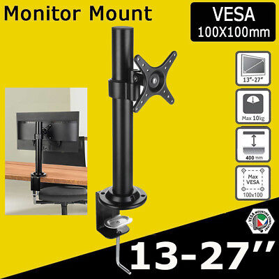 Single HD LED Monitor Arm Stand TV Mount Bracket Screen Holder Freestanding