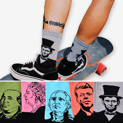 Cool Casual Art Socks Men Women Cotton 3D Print Skateboard Happy Socks