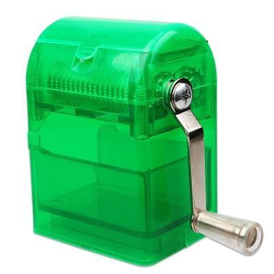 Herb Grinder Tobacco Cutter Hand Muller Shredder with Tobacco Storage Case Green