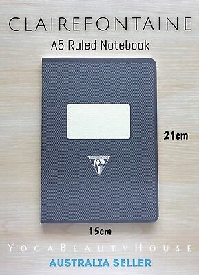 Clairefontaine A5 Ruled Notebook Metric Black (note pad 1951 lined grid dot draw