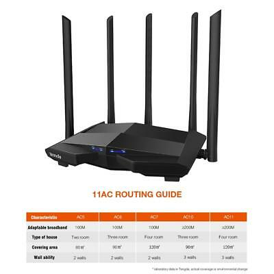 Tenda AC11 1200Mbps 2,4 GHz / 5 GHz DualBand WLAN Router Wireless Repeater