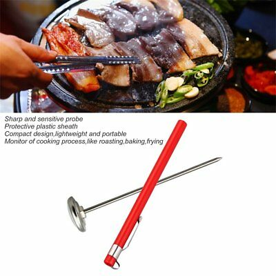 Stainless Steel Pocket Probe Thermometer Gauge for Food Cooking Meat BBQ  PT
