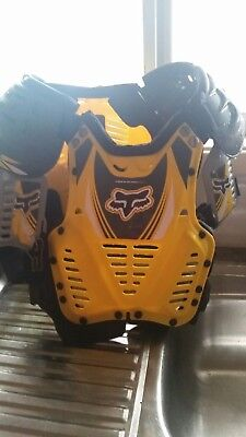 Fox Racing Yellow Chest Protector Motocross / Down Hill Body Armour Guard Kids