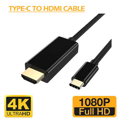 USB 3.1 Type-C USB-C to 4K HDMI HDTV Adapters Cable Samsung Galaxy S8 Macbook UK