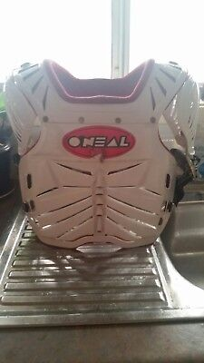 Oneal Racing White Chest Protector DH/Motocross Body Armour Guard Kids