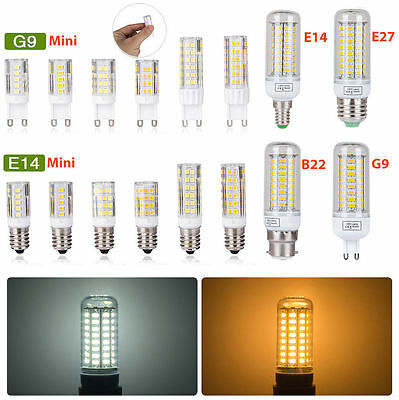 E27 E14 B22 G9 LED Lamp Corn Light Bulb Spotlight 3W 6W 9W 12W 15W SMD 5730 UK C