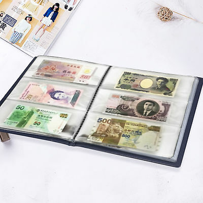 60Slots Soft Leather Notes Album Banknote / Paper Money / Stamps Collection Book