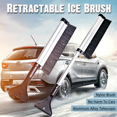 2 IN 1Ice Scraper with Brush for Car Windshield Snow Remove Frost Broom Cleaner