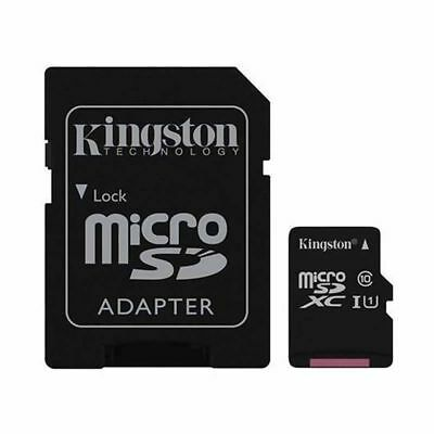 TARJETA MEMORIA KINGSTON MICROSD MICRO SD 16GB 32GB 64GB CLASE 10 80MB/s