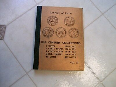 Extra Rare Vintage Library Of Coins 19Th.centry 2,3,20 Cent&shield Free Shiping