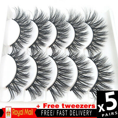 5 Pairs 3D Luxury Makeup Eyelashes Natural Cross False Eyelashes Layered Lashes