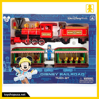 Walt Disney World Resort Parks Railroad Train Set Mickey & Friends New
