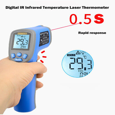 TS550 Digital Infrared Temperature Gun Thermometer Non-Contact IR Laser Point UK