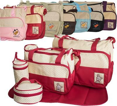 5pcs Baby Nappy Changing Bag Set Diaper Bags Shoulder Handbag Mommy Bag 5PCS01