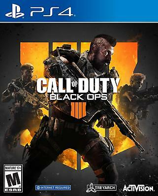 Call of Duty Black Ops 4 Sony Playstation 4 PS4 Game Brand New Factory Sealed **