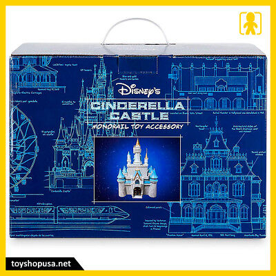Walt Disney World Parks Cinderella Castle Figure Monorail Accessory Playset