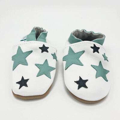 *SECONDS* BOYS 18-24 MONTHS - Dotty Fish Soft Leather Baby and Toddler Shoes