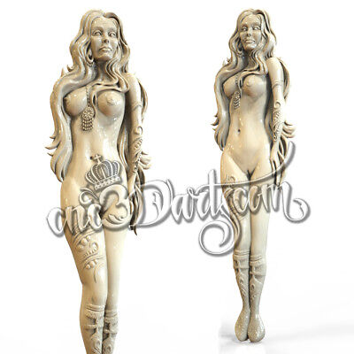 3D Model STL for CNC Router Artcam Aspire Nude Girl Woman Panel Cut3D Vcarve