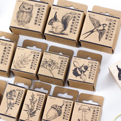 Wooden Rubber Stamp Lovely Animal Plant  Scrapbooking Stationery Craft Stamp /