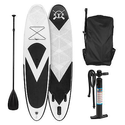 Klarfit Paddle board gonflable planche Stand Up pagaie 300x10x71 cm - noir/blanc
