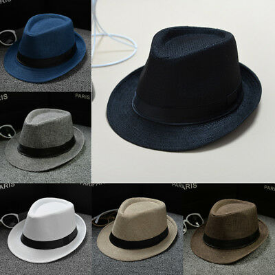 3b509643 Unisex Hat Men Women Fedora Trilby Wide Brim Straw Cap Summer Beach Sun  Panama