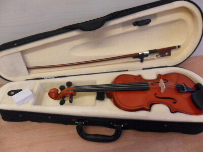Student Violin 1/8 Size Case & Bow + Rosin Ideal Starter Instrument New & Unused