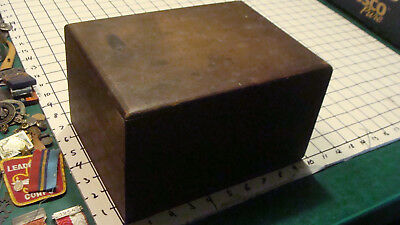 Original Vintage -- WOOD BOX for THOMAS HALL MAGNETIC MACHINE no parts